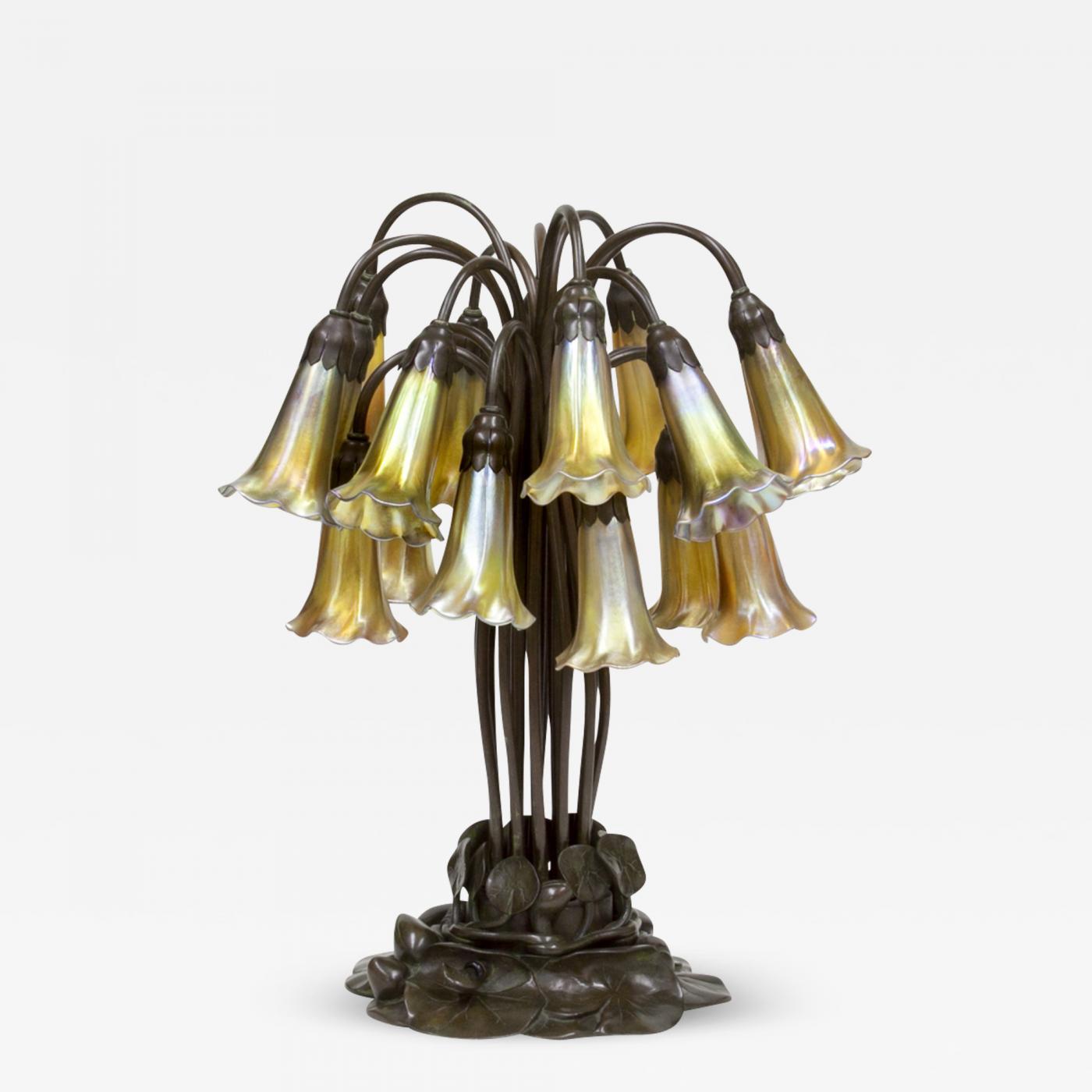 Tiffany Studios 18 Light Lily Table Lamp