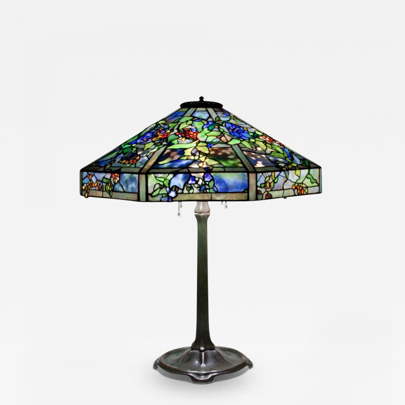tiffany studios october night table lamp