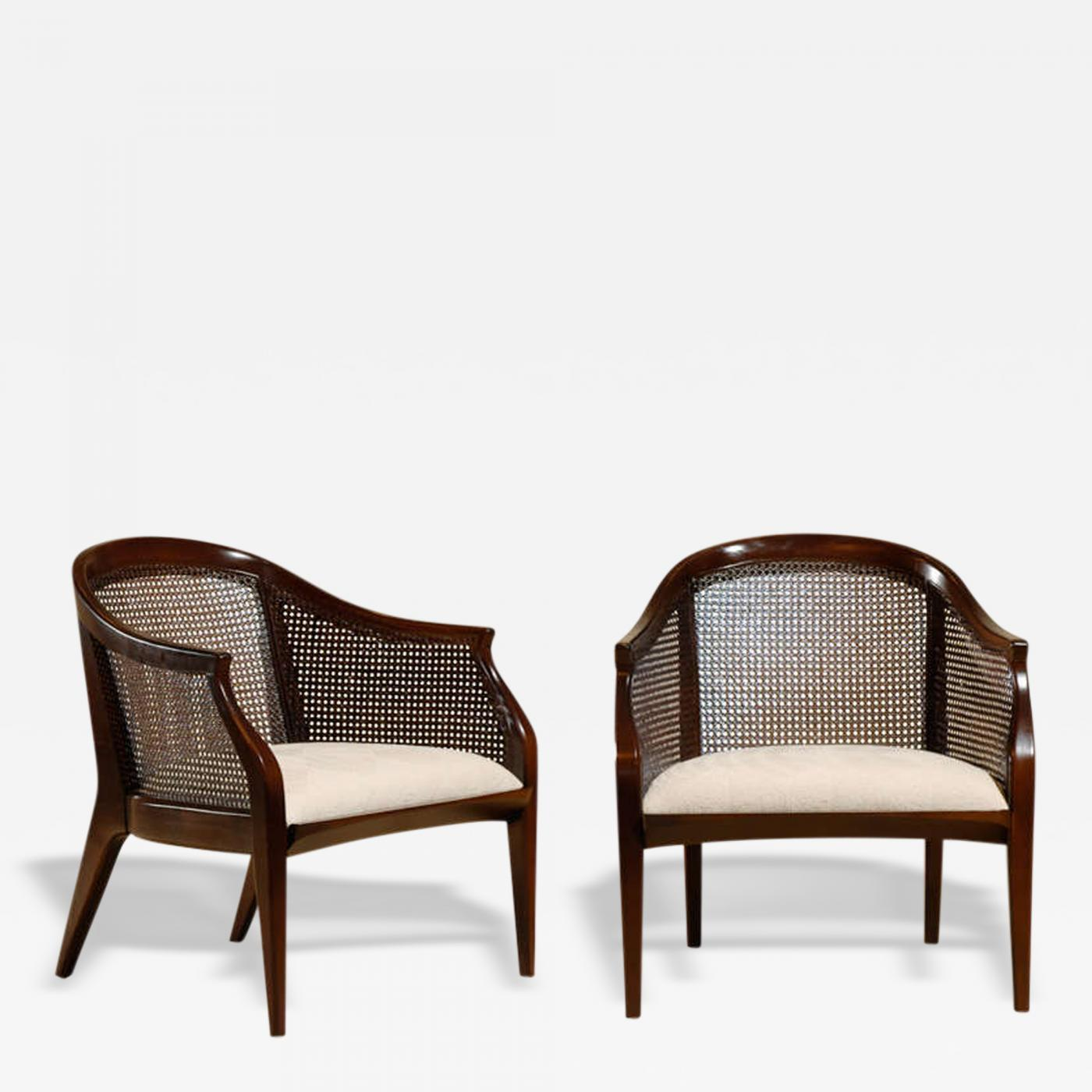 Tomlinson Furniture Co Pair of Tomlinson Cane Back Lounge Club