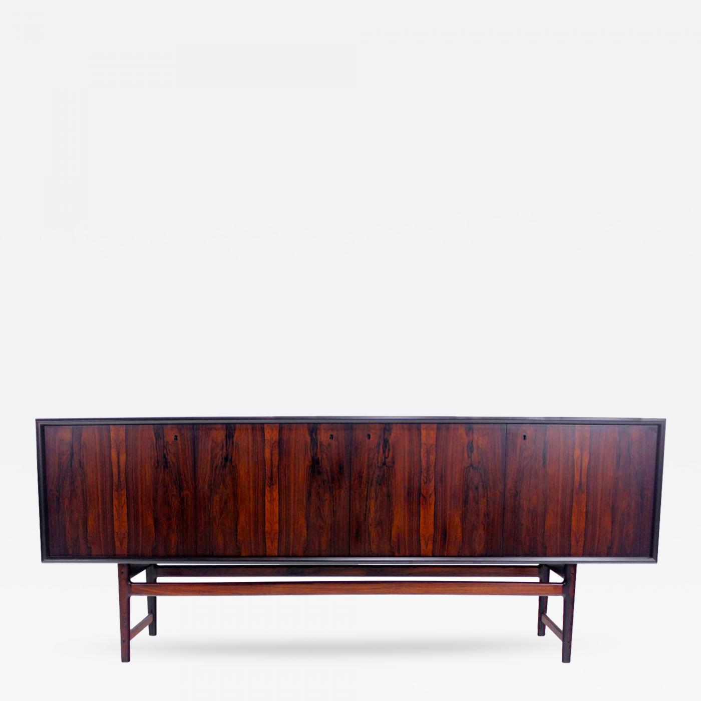 Torbj¸rn Afdal Scandinavian Modern Rosewood Sideboard Credenza