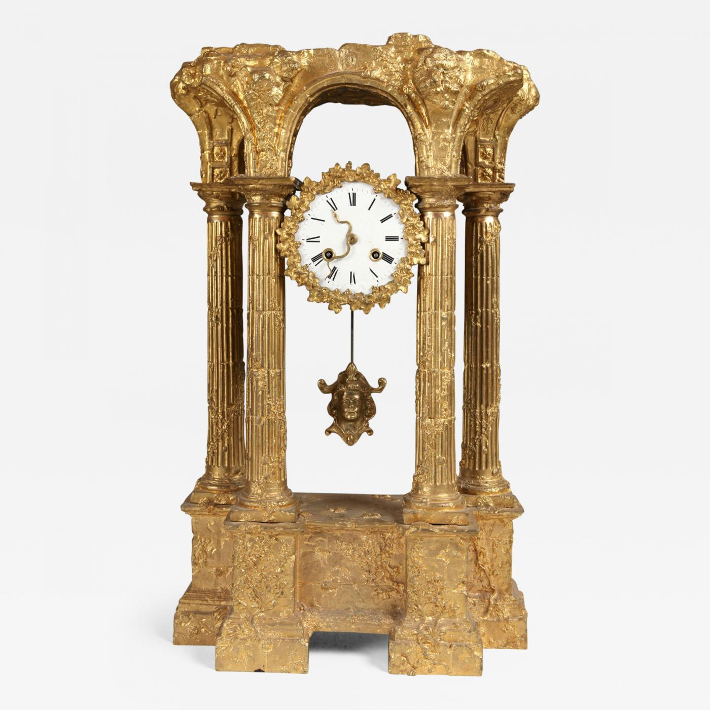 Unusual French Ormolu Clock