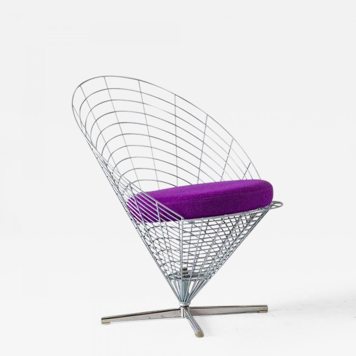 "Verner Panton Verner Panton ""Wire Cone"" Chair"