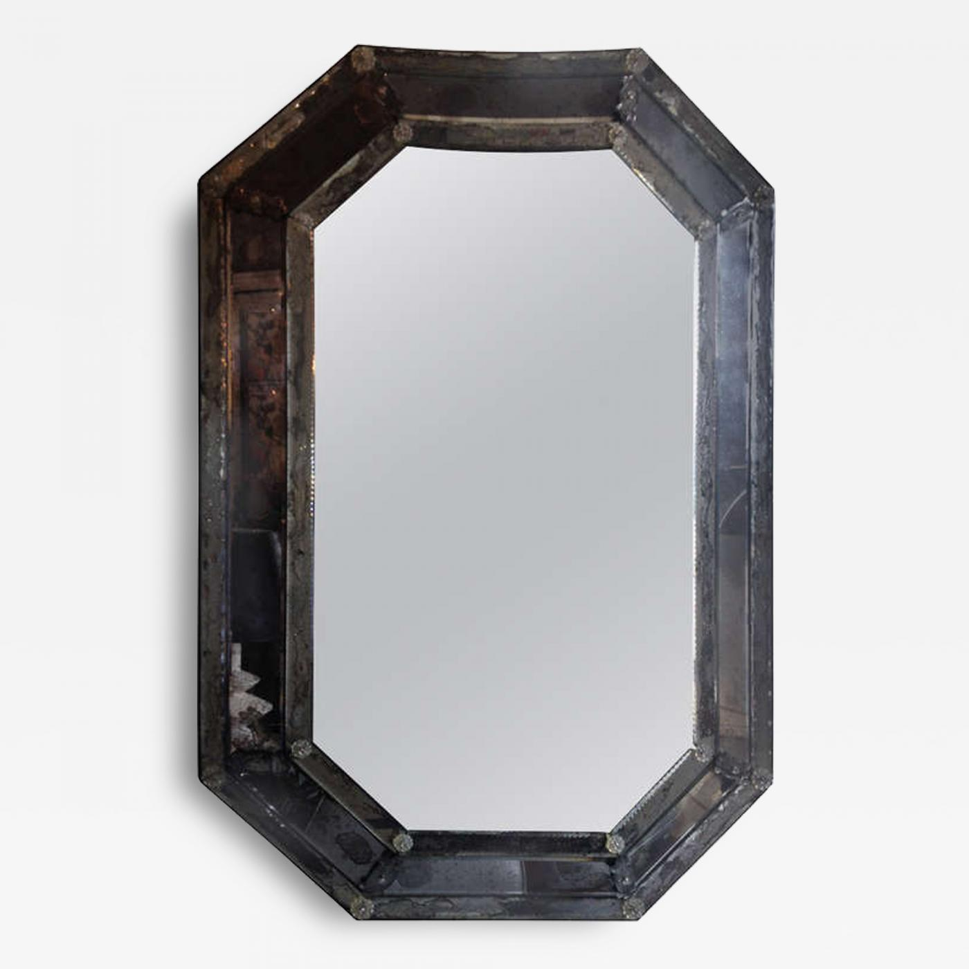 Vintage Antique Venetian Octagon Mirror