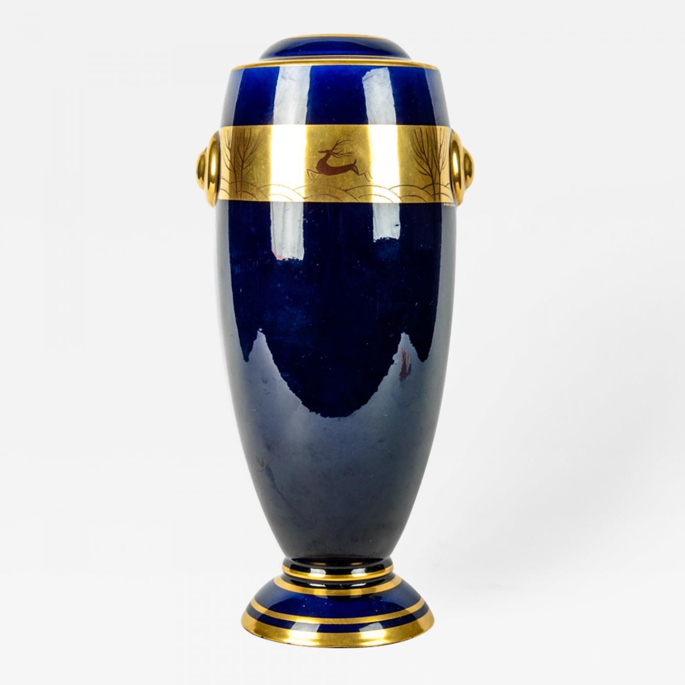 Vintage French Porcelain Art Deco Style Vase Piece