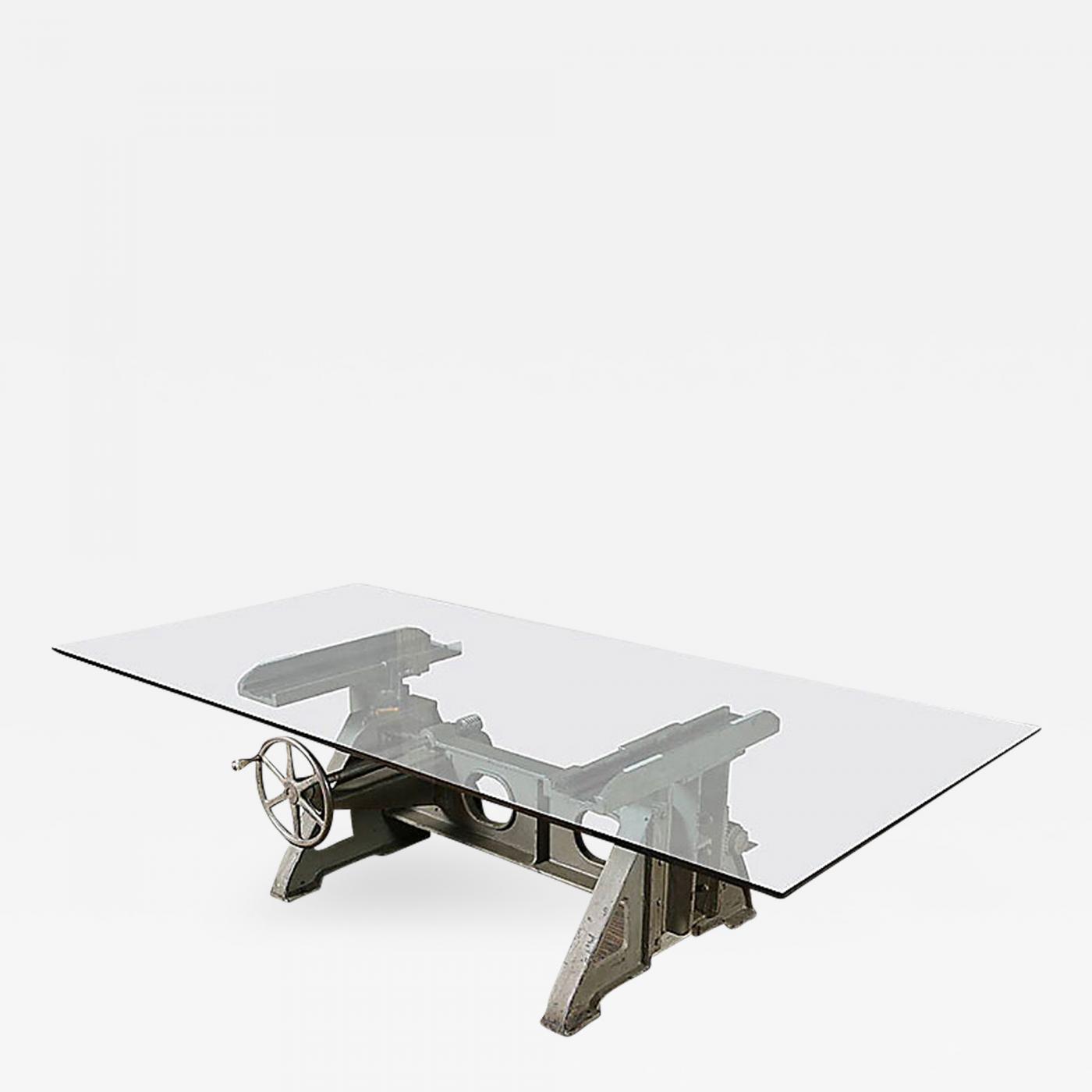 vintage industrial cast iron adjustable table