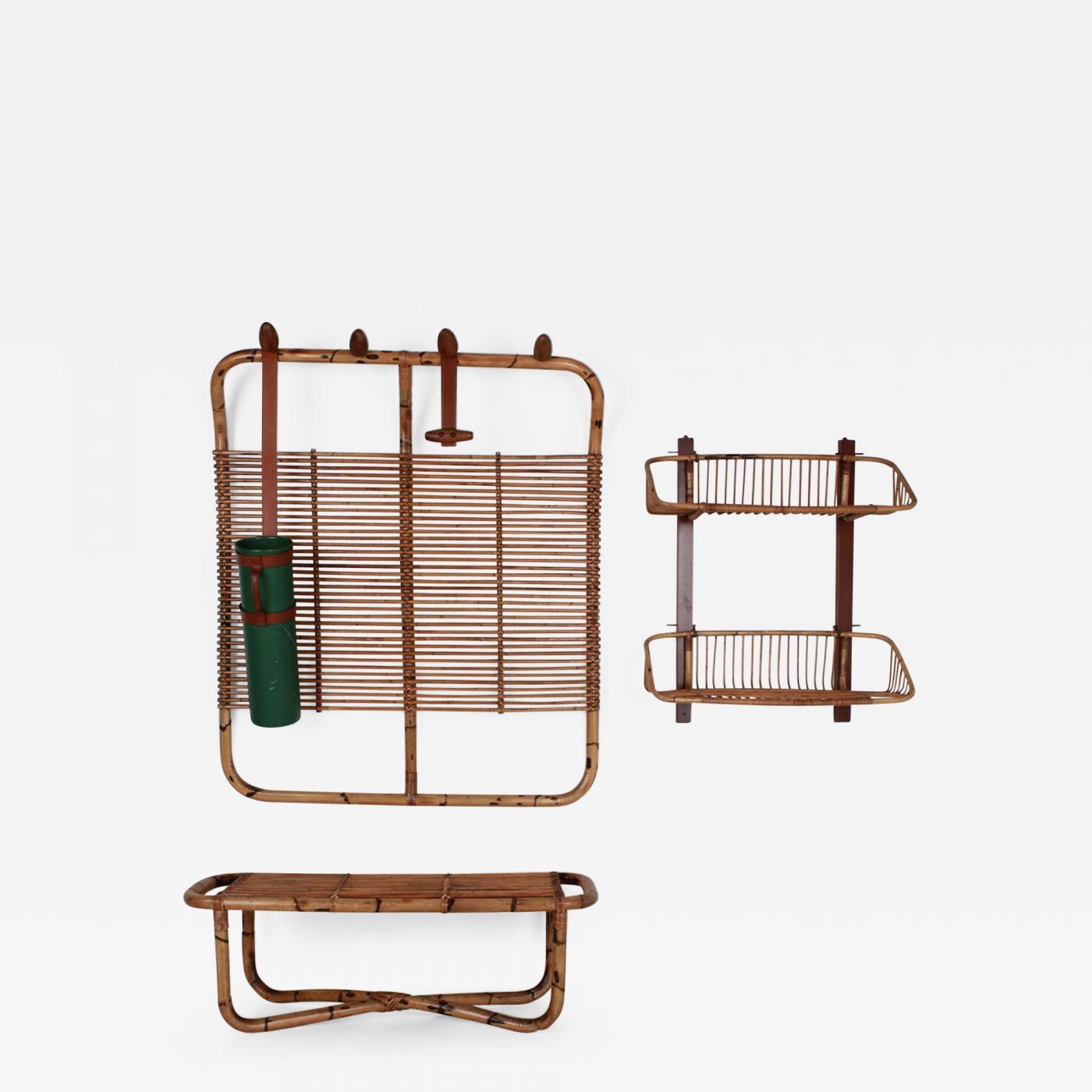 vittorio bonacina bamboo coat rack bench and shelf. Black Bedroom Furniture Sets. Home Design Ideas