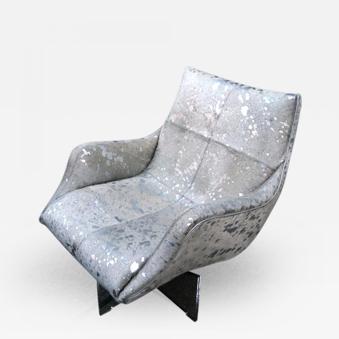 Vladimir Kagan Lounge Chair on Lucite Base