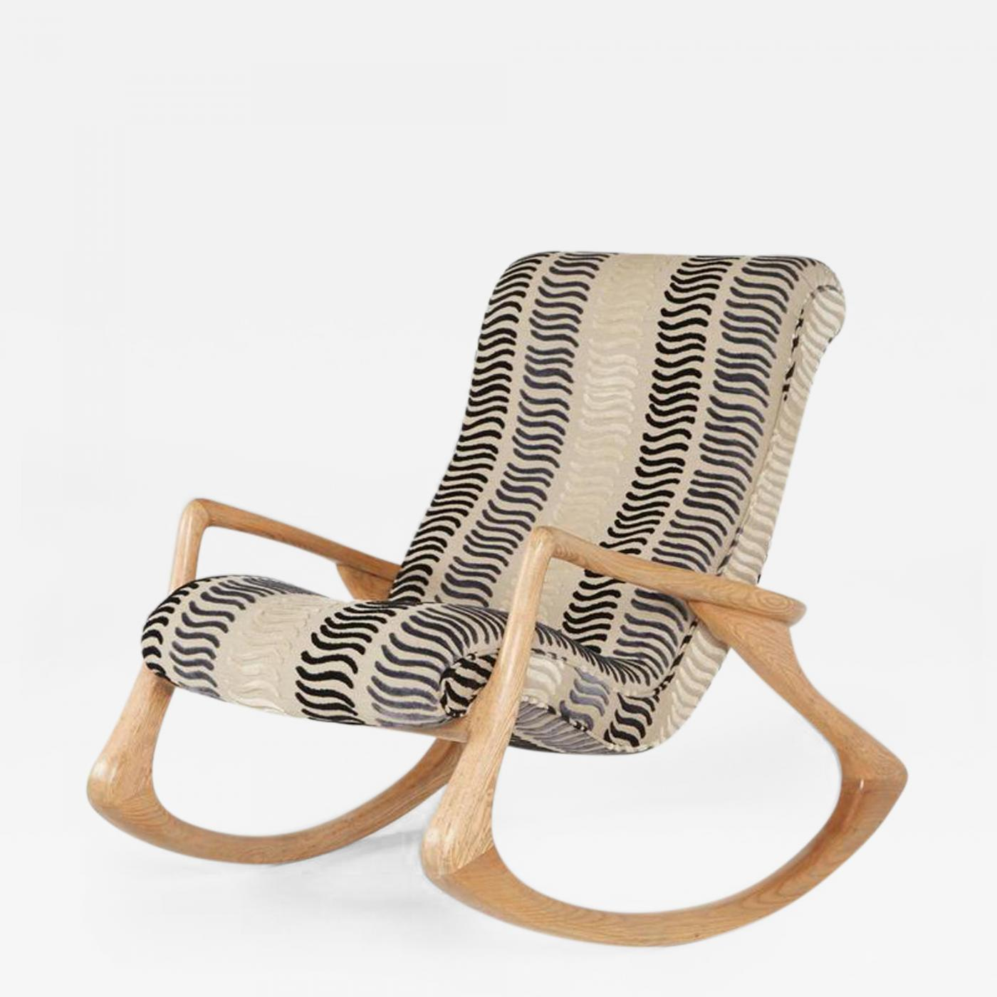 Vladimir Kagan Vladimir Kagan Contour Rocking Chair Rare Oak