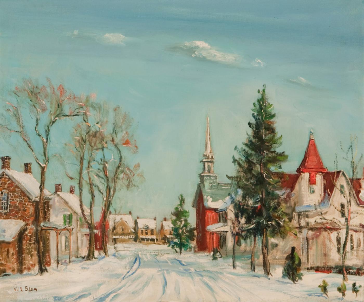 walter emerson baum snow covered village