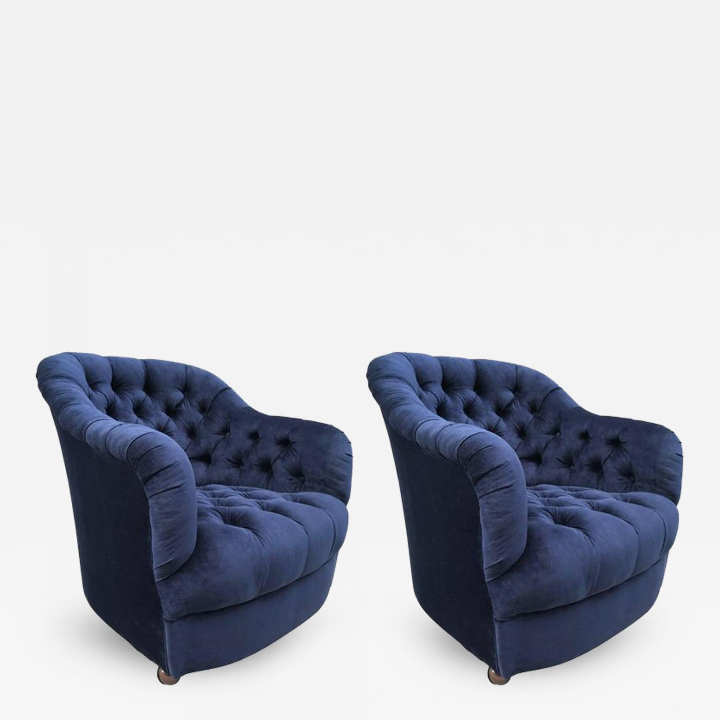 Listings / Furniture / Seating / Armchairs · Ward Bennett Pair Of Ward  Bennett Tufted Lounge Chairs ...