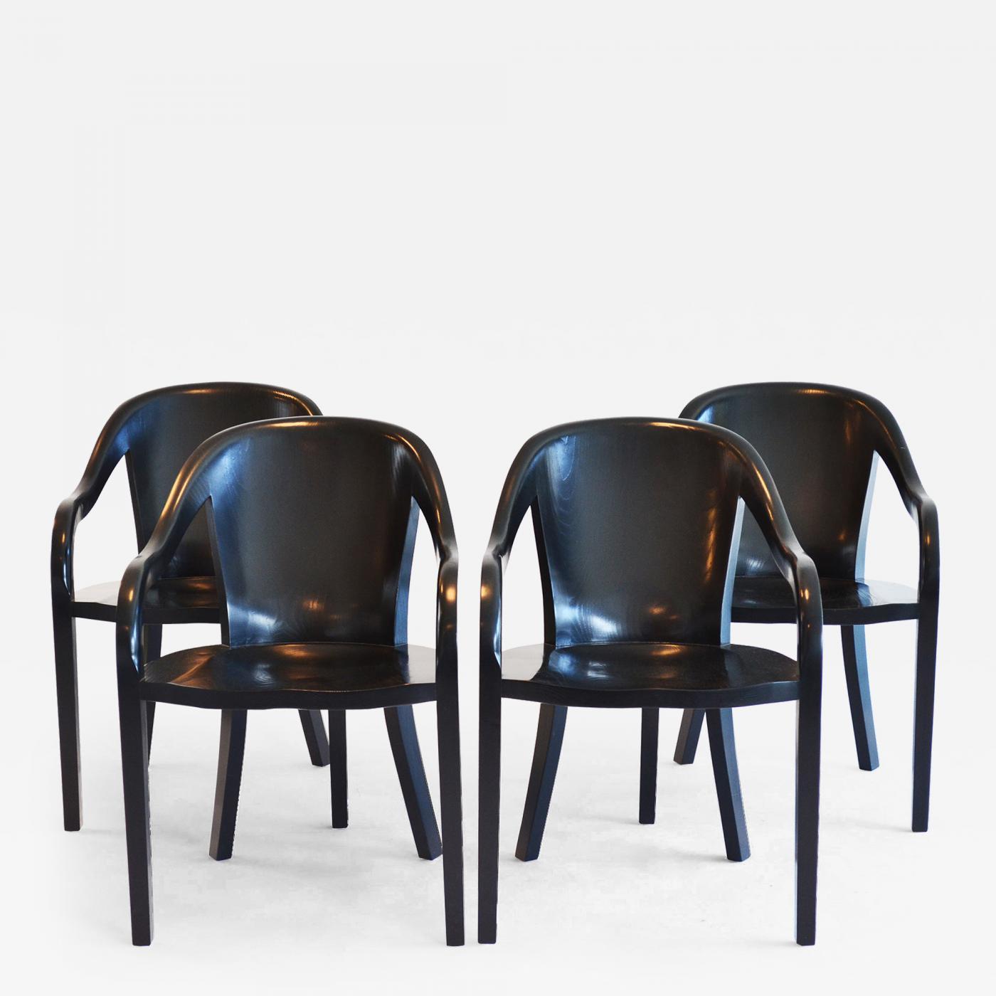 Superb Ward Bennett Set Of Four Ward Bennett University Chairs For Brickell Assoc Dailytribune Chair Design For Home Dailytribuneorg