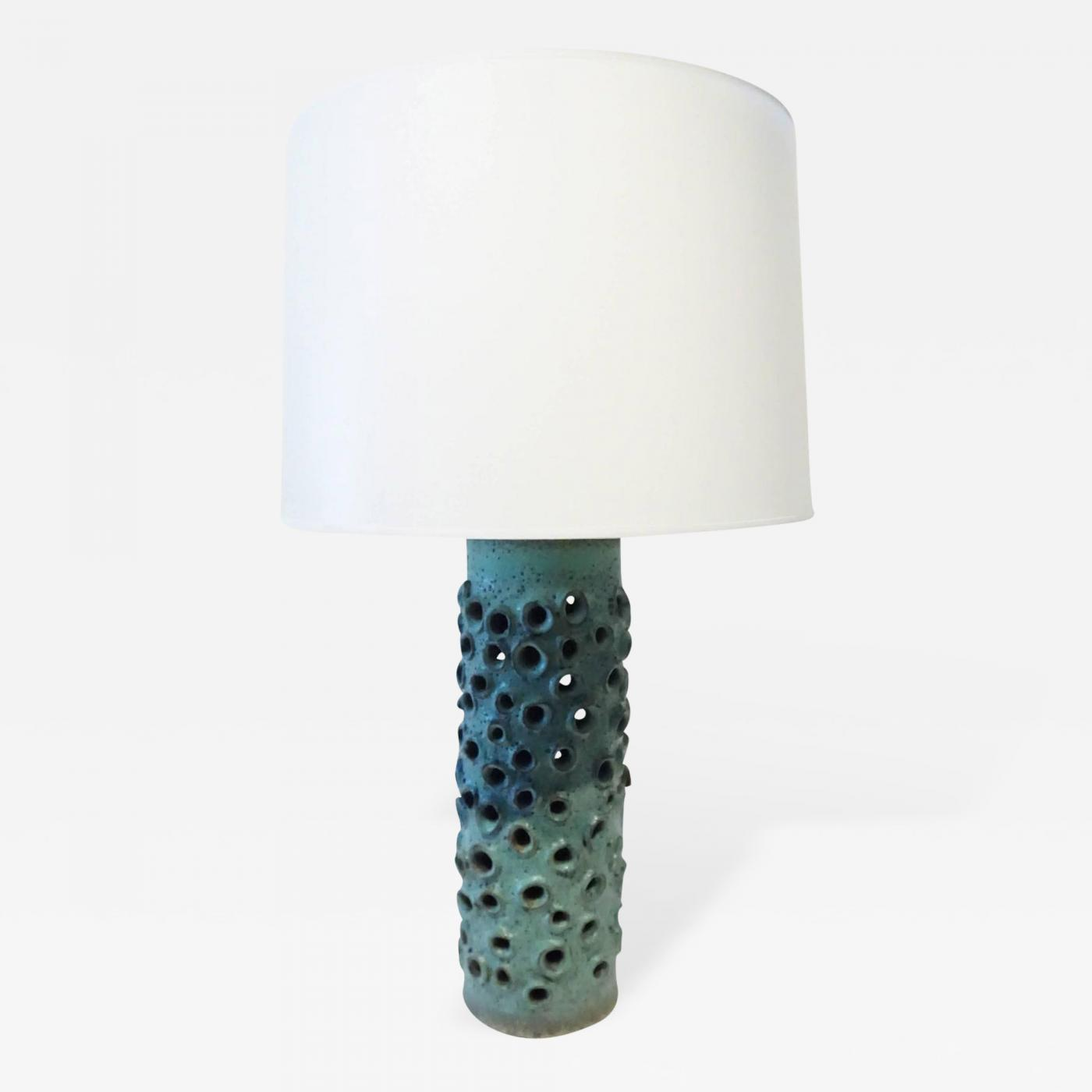 Warner walcott turquoise table lamp by warner walcott listings furniture lighting table lamps geotapseo Images