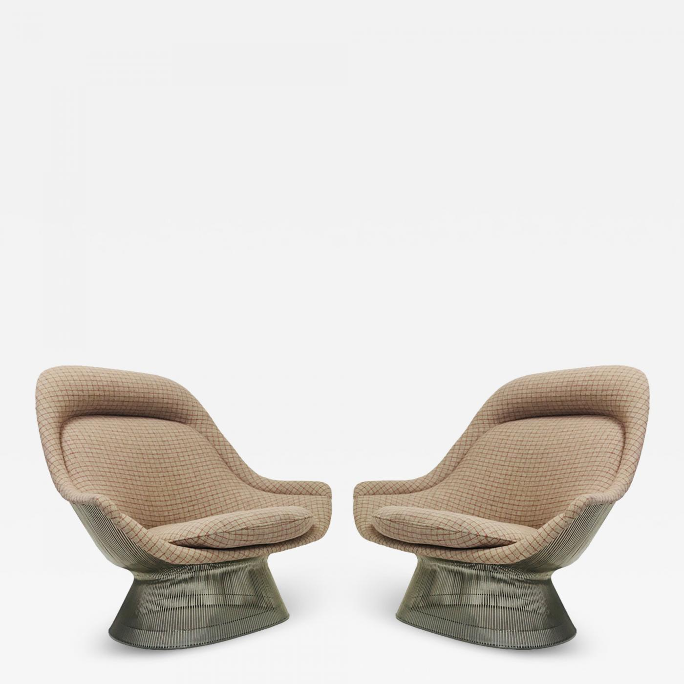 Magnificent Warren Platner Pair Of Vintage Lounge Chairs By Warren Platner Gamerscity Chair Design For Home Gamerscityorg