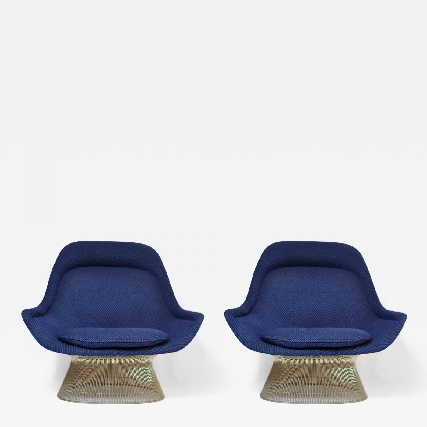 Warren Platner Pair of Warren Platner Lounge Chairs