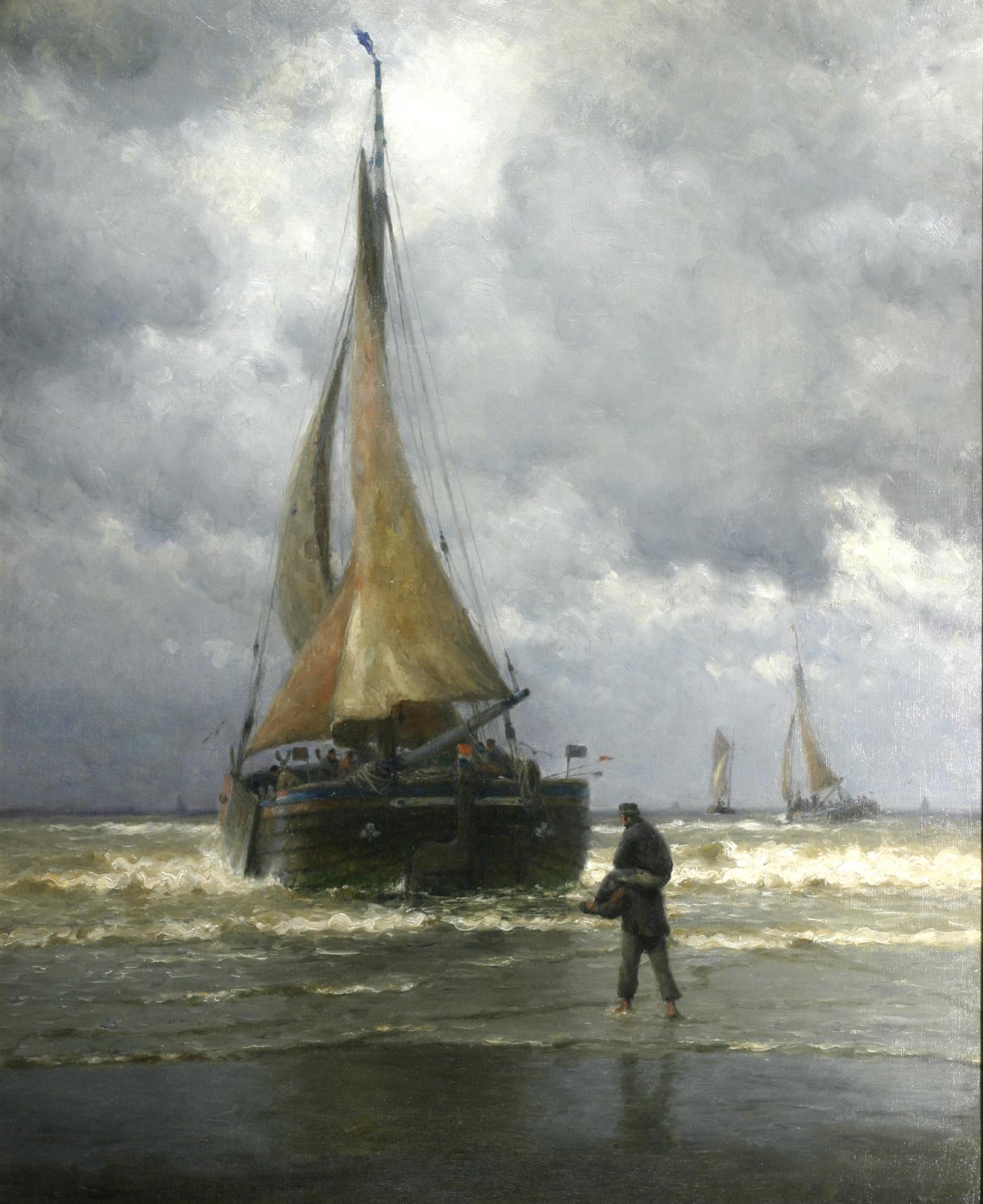 William Edward Norton On The Coast Of Holland Fishing