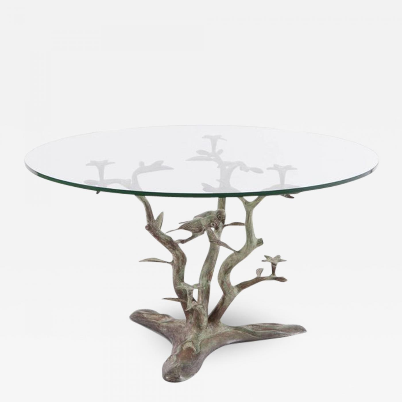 Willy Daro Bronze Coffee Table With Glass Top, 1960s