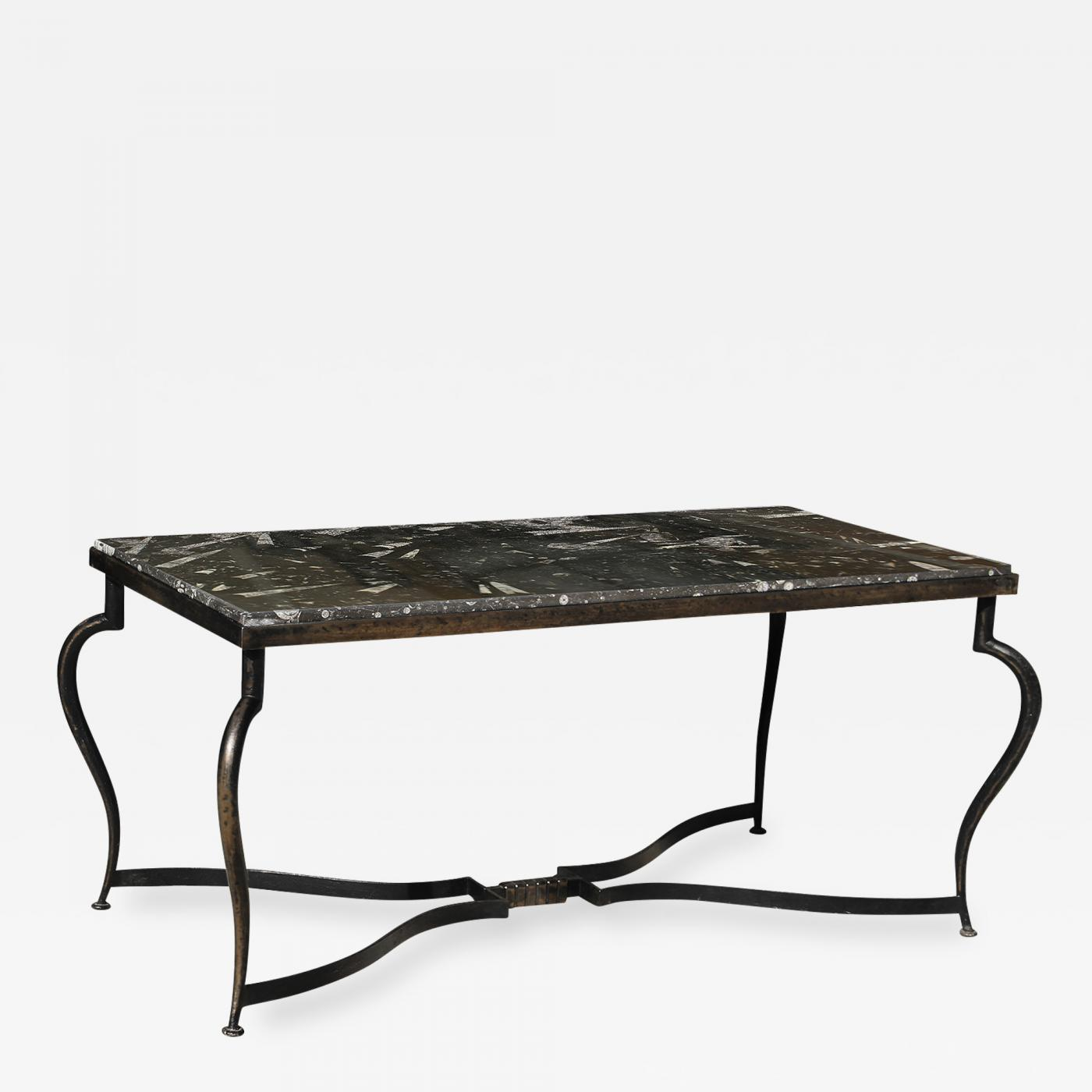 Ordinaire Listings / Furniture / Tables / Coffee Tables · Wrought Iron Coffee Table  With Black ...