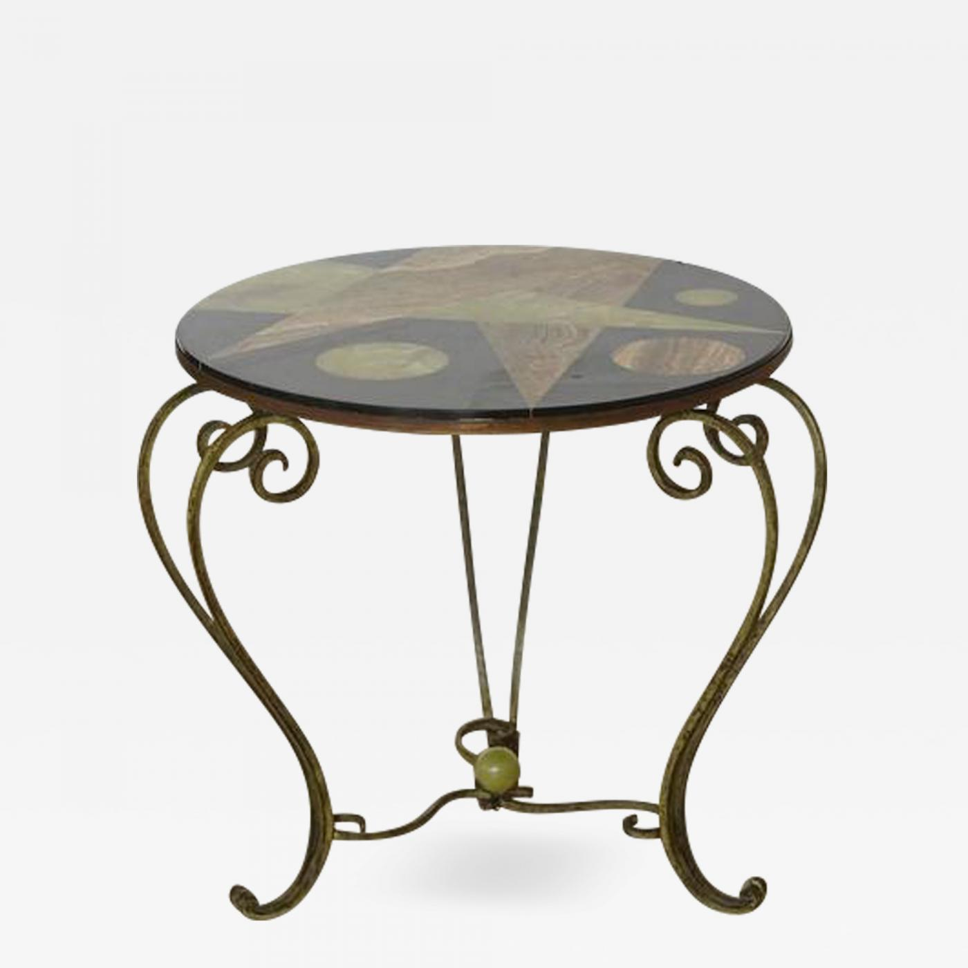 Genial Listings / Furniture / Tables / Side Tables · Wrought Iron Side Table With  Black ...