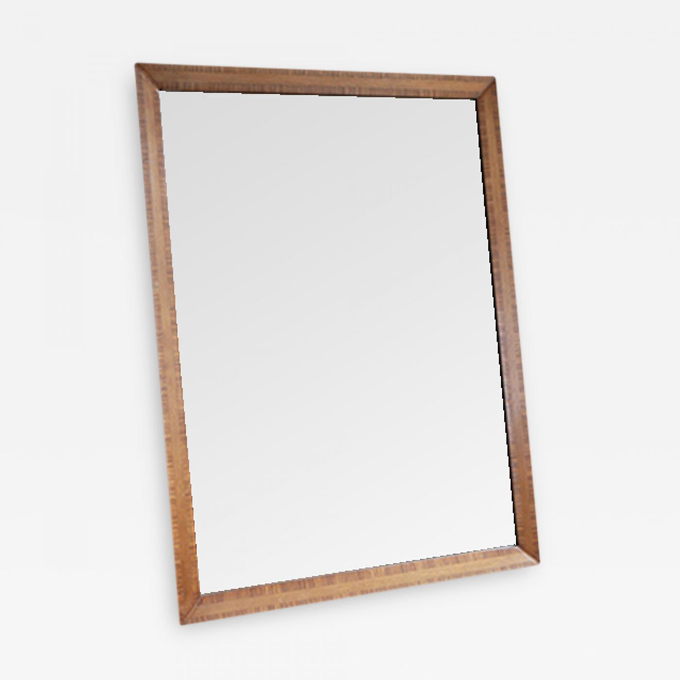 Zebra Wood Mahogany Wall Mirror