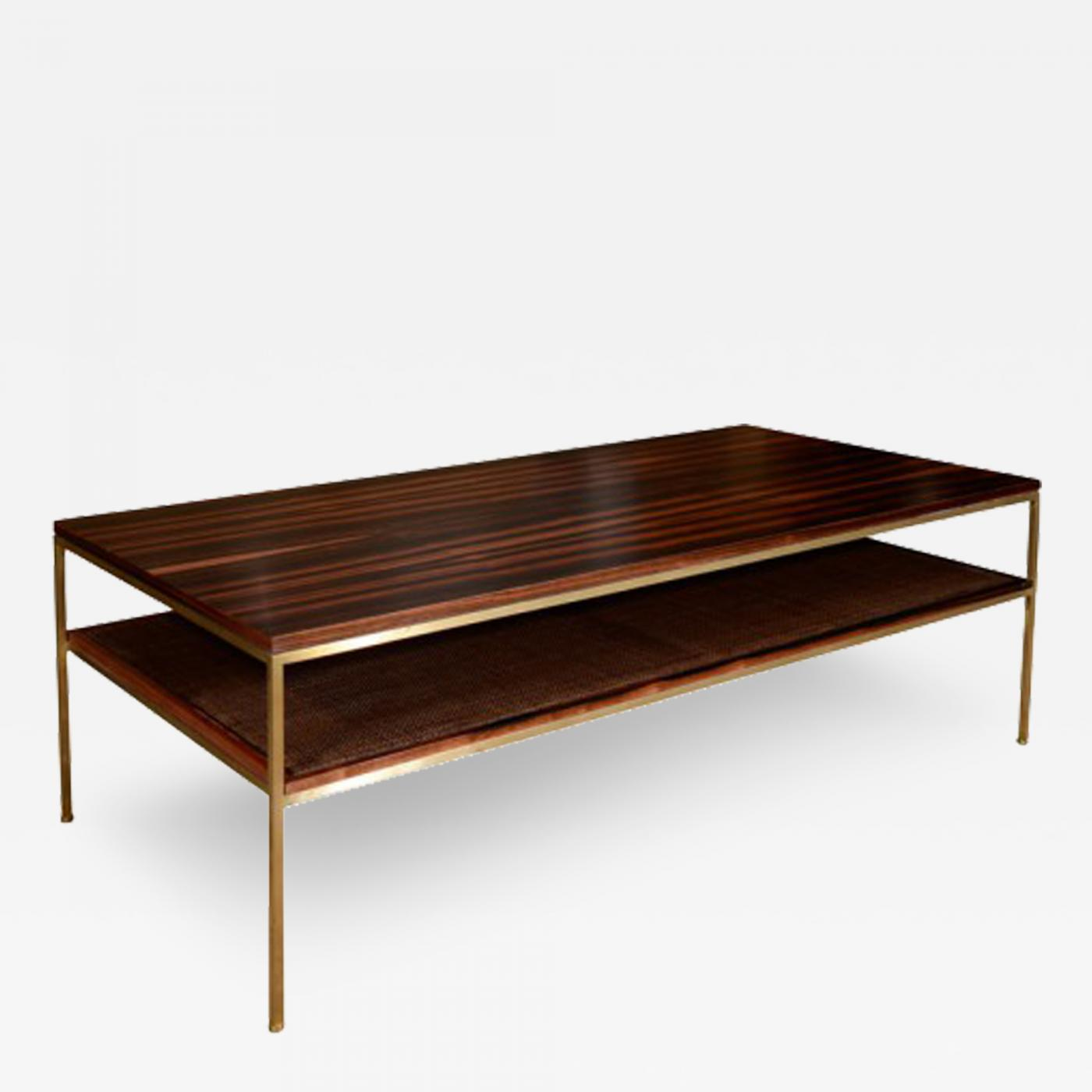 reGeneration Coffee Table with Brass Frame Macassar Ebony Top